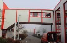 Neubau Treppenhaus und Verbindungsbrücke